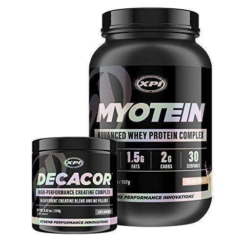 Myotein Protein Powder (Vanilla, 2Lb) & Decacor - Best Whey Protein Powder / Shake - Hydrolysate, Isolate, Concentrate & Micellar Casein