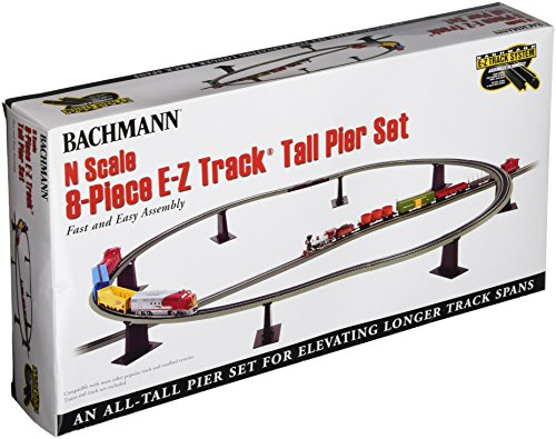 Elevated Train (Bachmann 8 Piece E-Z Track Tall Pier Set - N Scale)