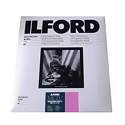 "Ilford Multigrade IV RC Deluxe Resin Coated VC Variable Contrast Black & White Enlarging Paper - 8x10"" - 25 Sheets - Glossy Surface by Ilford"