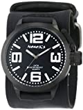 Nemesis Men's HST040W Oversized Collection White/Black on Embossed Black Watch