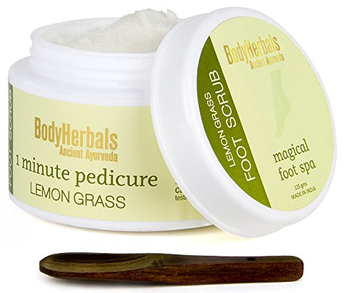 BodyHerbals Lemongrass Foot Scrub, 1 Minute Pedicure (125g), Health & Personal Care, Beauty, Foot Care, Scrubs.
