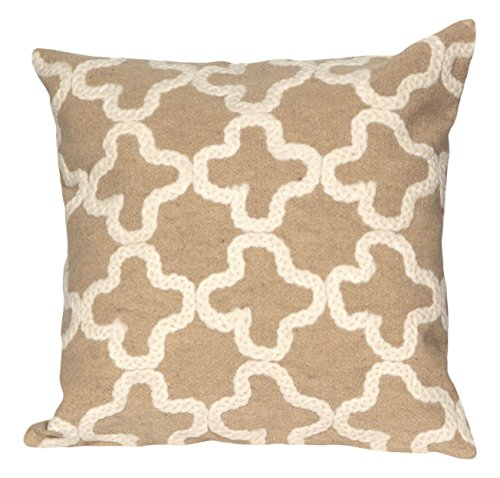 Tile Edge Linen (Liora Manne Mystic II Moroccan Tile Indoor/Outdoor pillow, Linen - 20