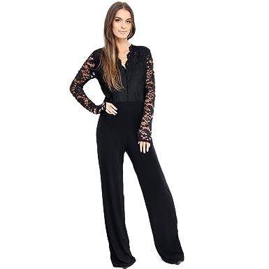 821f52e125fa8 Top Fashion18 Ladies Women s Plus Size Lace Evening Party Playsuit Romper Jumpsuit  Size 16-24