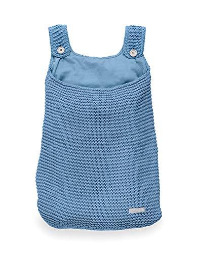 Aufbewahrungstasche Heavy Strick Blau Jollein Bettdeckenbezug und Kissenbezug