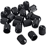#5: Outus Plastic Tyre Valve Dust Caps for Car, Motorbike, Trucks, Bike and Bicycle, 20 Pack (Black)