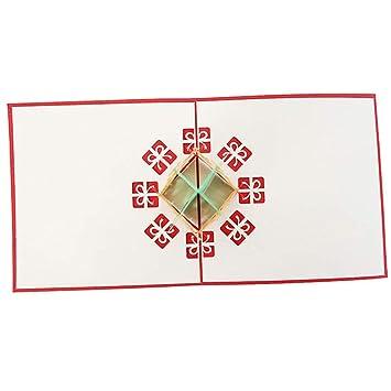 WanTuo 3D Weihnachtskarten, lustige 3D Weihnachtskarten ...