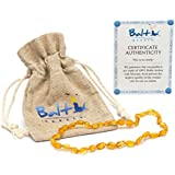 Raw Baltic Amber Teething Necklaces For Babies (Unisex...