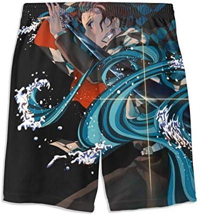 水着 キッズ 海水パンツ キメツノヤイバ ショートパンツ 短パン ジュニア 男の子 メッシュインナー 調整可能 UVカット 速乾 水遊び 子供 男児 男の子 ジュニア 夏祭り
