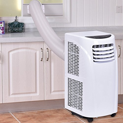 Costway 10,000 BTU Portable Air Conditioner with Remote Control Dehumidifier Function Window Wall Mount in White by COSTWAY (Image #1)