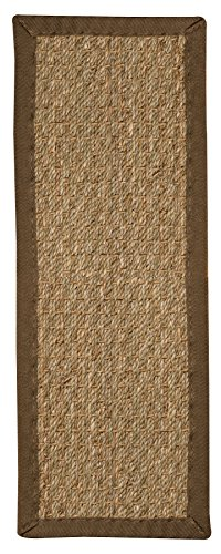 NaturalAreaRugs Handcrafted Half Panama Seagrass Carpet Stair Treads - Malt (Set of 13) - 9