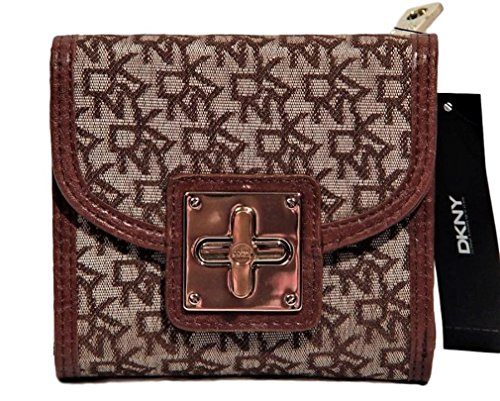DKNY Signature Women's Square Turnclock Wallet Bag