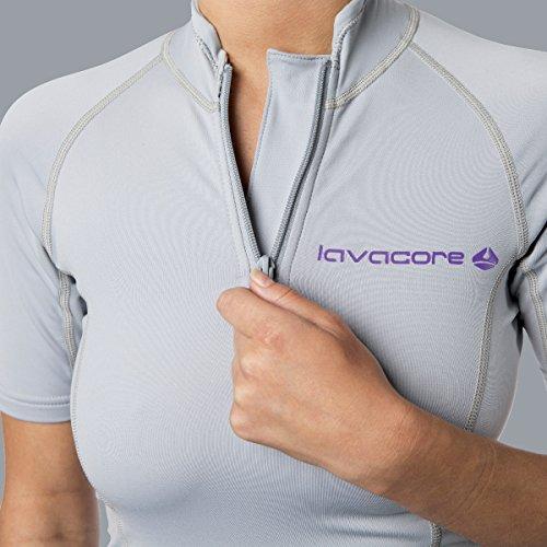Lavacore Lavaskin Women's Scuba Diving Short Sleeve Shirt Grey