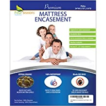 """Full Size Mattress Protector (8""""-11"""" Depth) Bedbug Waterproof Zippered Encasement Hypoallergenic Premium Quality Cover Protects Against Dust Mites Allergens"""