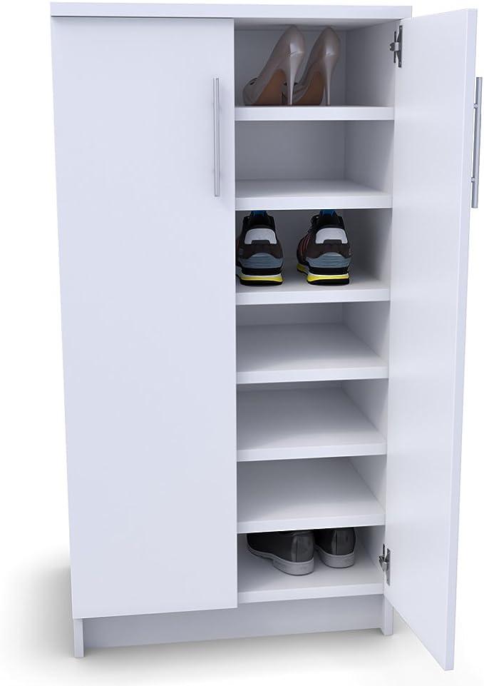 60 cm breiter Schuhschrank in Weiß