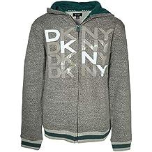 DKNY Boys Fleece Zip Up Hoodie Sweatshirt