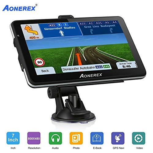 Car GPS Navigation, Aonerex 7 inch 8GB&256MB GPS Navigation System [2019 Upgraded Version] Voice Trun-by-Turn Route Guidance, Speed Limit Reminder Free Lifetime Map Update (The Best Gps For Cars 2019)