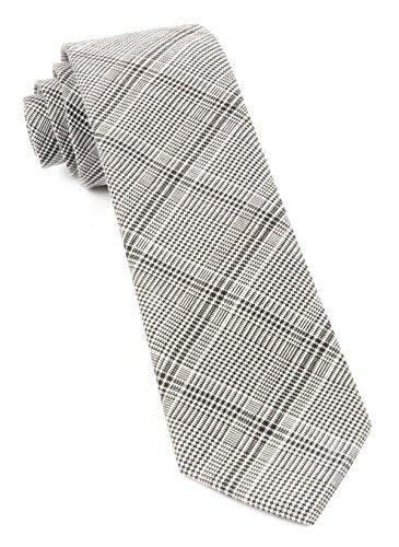 (The Tie Bar 100% Cotton Central Glen Plaid Black Tie)
