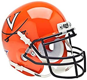 VIRGINIA CAVALIERS NCAA Schutt XP Authentic MINI Football Helmet UVA (ORANGE/NAVY)