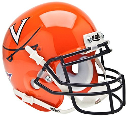 Virginia Cavaliers Team Helmet (NCAA Virginia Cavaliers Collectible Alt 1 Mini Helmet, Orange Navy)