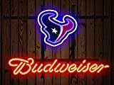Desung 14'x10' Budweisers Houston Sports Team Texan Neon Sign (VariousSizes) Beer Bar Pub Man Cave Glass Light Lamp BW102