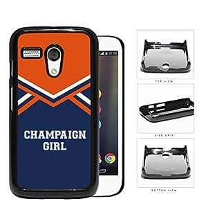 Champaign City Girl School Spirit Cheerleading Uniform Motorola (Moto G) Hard Snap on Plastic Cell Phone Cover