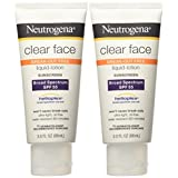Neutrogena Clear Face Break Out Free Liquid Lotion Sunscreen with Spf 55, 6 Ounce