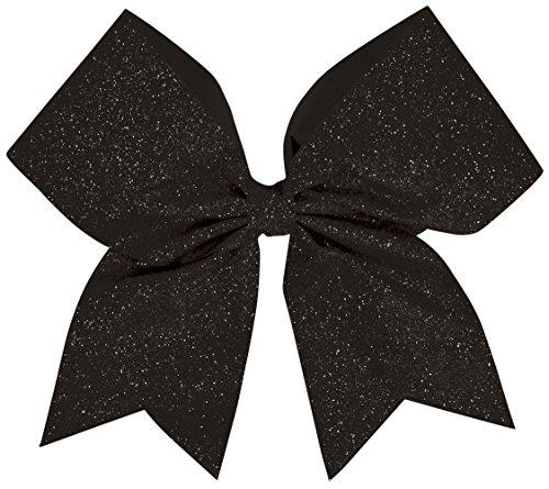 Hair Bow Glitter Black (Black Glitter Bow)