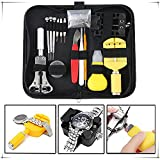 144Pcs Watch Repair Kit Professional Spring Bar Tool Set Deluxe Practical, Watch Band Link Pin Tool Set with Carrying Case, Watch Back Case Holder Opener