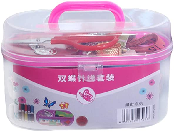 Huwaioury - Kit de agujas de tejer para coser con estuche portátil: Amazon.es: Hogar