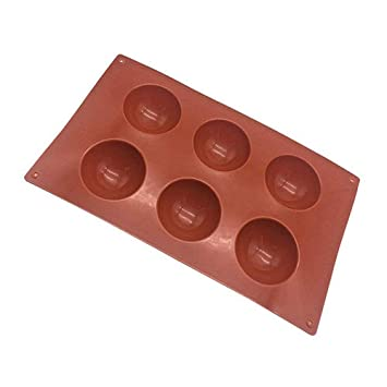 Kefaith Molde de silicona de medio círculo para postres de chocolate Bombas de hielo Torta de jabón Fabricación de bricolaje Accesorios de cocina (Size ...