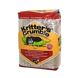 Kritter\'s Crumble All Natural Coconut Husk Fiber Reptile Substrate and Small Animal Bedding - Fine, 21 quarts