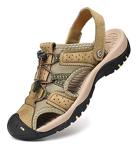 Casuales Punta Suelas Suaves De Sandalias Zapatos khaki Playa 45 Cerrada Para 27 Casuales 5 Addg Hombres FXTcHST
