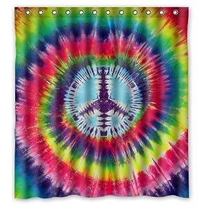 colorful floral tie dye pattern 66 w x72 h