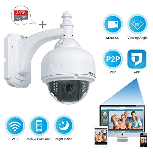 Dericam Outdoor Hd Wireless Security Camera Ptz System