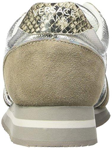 Jeans Scarpe Donna grigio Versace Chiaro Low e807 top Grigio 156Wwqdw