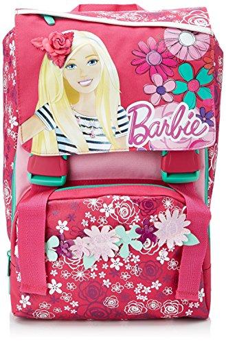 Barbie - Zaino Scuola Espandibile con Gadget, Bambina, Rosa, 28 Litri