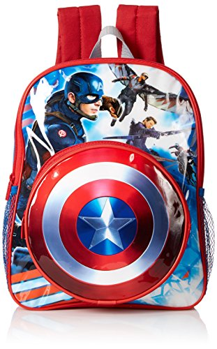 Marvel Boys' Captain America Toddler Backpack, Blue
