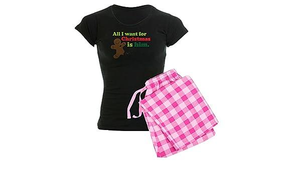 08094cce75a Amazon.com  CafePress-Couples Funny Christmas Women s Dark Pajamas-Womens  Novelty Cotton Pajama Set