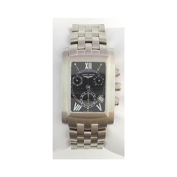 Reloj Longines DolceVita l56634756 al cuarzo (batería) acero quandrante negro correa acero