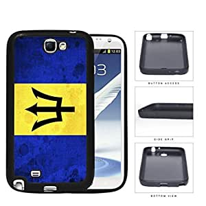 Barbados National Flag Blue and Yellow Grunge Hard Rubber TPU Phone Case Cover Samsung Galaxy Note 2 N7100 WANGJING JINDA