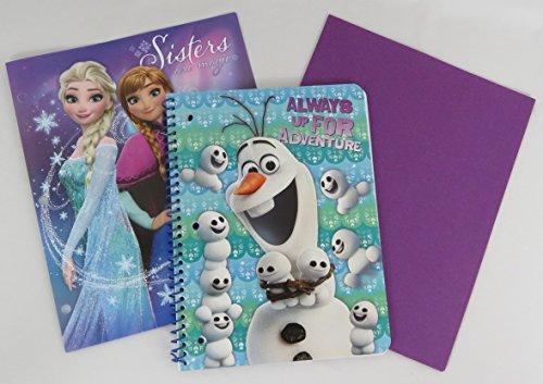 Disney Frozen Wirebound Spiral Notebook a Portfolio Folder and a Staples Folder (Olaf)