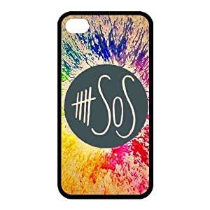 diy zhengPersonalized Keep Calm and Listen to Five Seconds of Summer 5 SOS Colorful Phone Case Suitable for Ipod Touch 4 4th and Ipod Touch 4 4th /S
