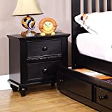 247SHOPATHOME IDF-7920BK-N, nightstand, Black
