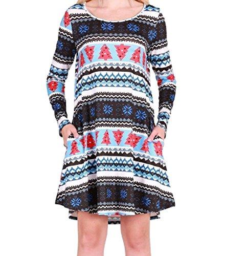 Tasche Del Di Vestito Fiocco Neve Del Autunno Partito Natale Coolred Inverno 1 donne xF5qB4YY