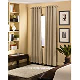 "Curtainworks Cameron Grommet Curtain Panel, 50 by 120"", Sand"