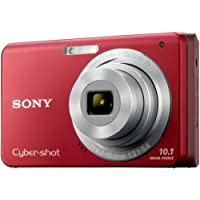 Sony Cybershot DSC-W180 10.1MP Digital Camera with 3x SteadyShot Stabilized Zoom and 2.7-inch LCD (Red)