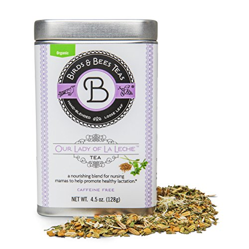 Organic Lactation Tea – Our Lady of La Leche – Award Winning Breastfeeding Tea from Birds & Bees Teas! Boost your supply of Mother's Milk safely with Organic Herbs. 4.5 (Bird Tea)