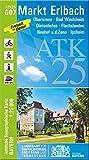 ATK25-G07 Markt Erlbach(Amtliche Topographische Karte 1:25000): Obernzenn, Bad Windsheim, Dietenhofen, Flachslanden, Neuhof a.d.Zenn, Ipsheim (ATK25 Amtliche Topographische Karte 1:25000 Bayern)