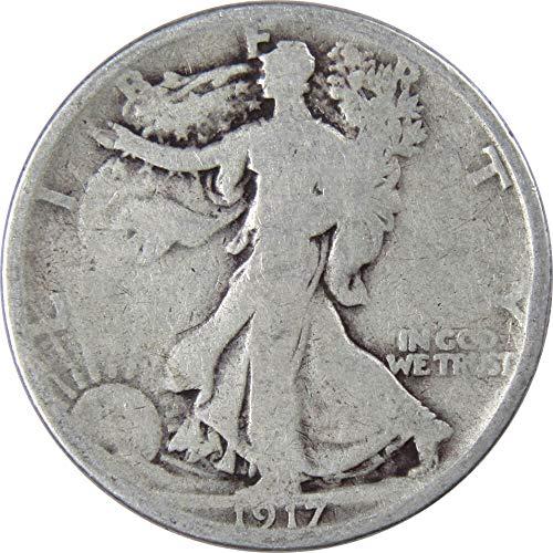 1917-S 50c Liberty Walking Silver Half Dollar Reverse Mintmark Genuine