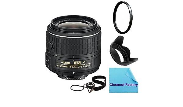 Nikon 18 – 55 mm f/3.5 – 5.6 G VR II AF-S DX NIKKOR Zoom (caja ...